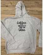 UMustHave SALE HOODIE | M | COFFEE UNLESS IT'S TIME FOR WINE
