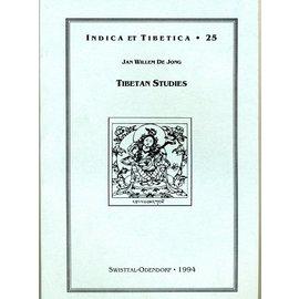 Indica et Tibetica Verlag Tibetan Studies - INDICA et TIBETICA 25 - Jan Wilhelm De Jong