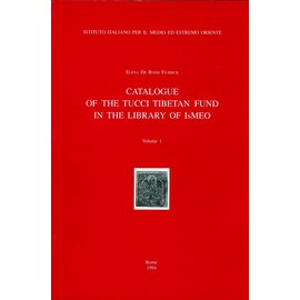 IsIAO Catalogue of the Tucci Tibetan Fund in the Library of IsIAO, 2 volumes, by Elena de Rossi Filibeck