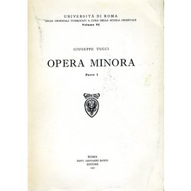 Giovanni Bardi Editore Opera Minora, 2 volumes, by Giuseppe Tucci