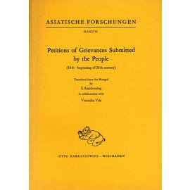 Harrassowitz Petitions of Grievances Submitted by the People, by S. Rasidondug and Veronika Veit