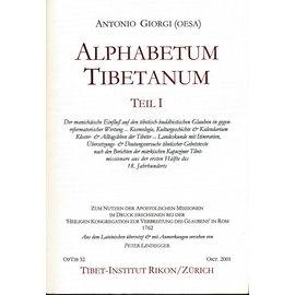 Opuscula Tibetana Alphabetum Tibetanum, 2 Bände, übersetzt von Peter Lindegger