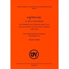 Wiener Studien zur Tibetologie und Buddhismuskunde Sa Skya Legs Bshad, von Helmut Eimer