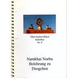 Verlag Tibet Institut Rikon Belehrungen zu Dzogchen, von Namkhai Norbu