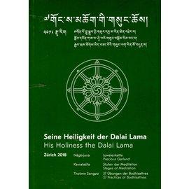 Verlag Tibet Institut Rikon Seine Heiligkeit der Dalai Lama in Zürich, 2018: Texte
