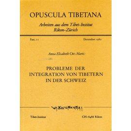 Verlag Tibet Institut Rikon Probleme der Integration von Tibetern in der Schweiz, von Anna Elisabeth Ott-Marti