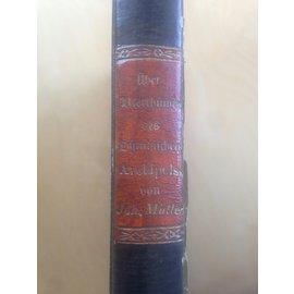 Commissions -Verlag von A. Asher & Co. Berlin Ueber Alterthuemer des Ostindischen Archipels, von Johannes  Mueller