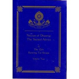 Zhyisil Chokyi Ghatsal Publications Nectar of Dharma: The Sacred Advice, Vol 2, by Kenting Tai Situpa