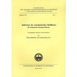 Vandenhoeck & Ruprecht Spätformen des zentralasiatischen Buddhismus, von Klaus Röhrborn und Andras Rona-Tas