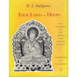 Bruno Cassirer Oxford Four Lamas of Dolpo: Autbiographies of four Tibetan Lamas (15th-18th centuries) by D.L. Snellgrove
