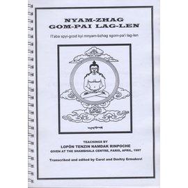 nyam-zhag gom-pai lag-len, by Lopön Tenzin Namdak