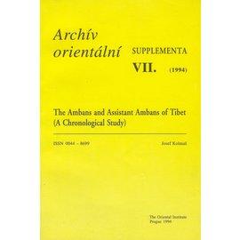 Archiv Orientalni, Prag The Ambans and Assistant Ambans of Tibet, by Josef Kolmas