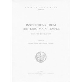 Istituto Italiano per il Medio ed Estremo Oriente Inscriptions from the Tabo Main Temple, by Luciano Petech and Christian Luczanits