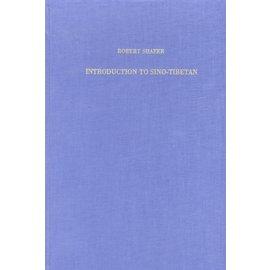 Otto Harrassowitz Wiesbaden Introduction to Sino-Tibetan, by Robert Shafer