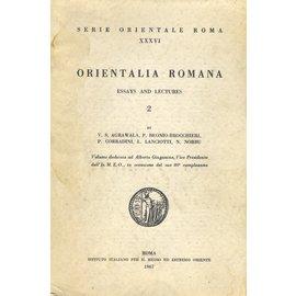 Istituto Italiano per il Medio ed Estremo Oriente Orientalia Romana (2), by V.S. Agrawala, P. Beonio-Brocchieri, P. Corradini, L. Lanciotti, N. Norbu