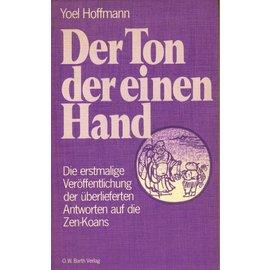 Otto Wilhelm Barth Verlag Der Ton der einen Hand, von Yoel Hoffmann