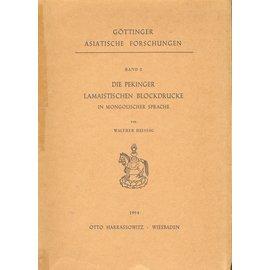 Otto Harrassowitz Wiesbaden Die Pekinger Lamaistischen Blockdrucke, von Walther Heissig