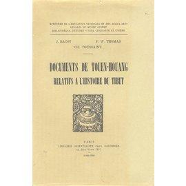 Librairie Orientaliste Paul Geuthner Documents de Touen-Houang relatifs a l'hisoire du Tibet, par Jacques Bacot, F.W. Thomas and Ch. Toussaint