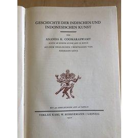 Karl W. Hiersemann Leipzig Geschichte der Indischen und Indonesischen Kunst, von Ananda K. Coomaraswamy