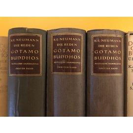 Piper München Die Reden Gotamo Buddhos, Mittlere Sammlung, von K. E. Neumann, Piper Verlag