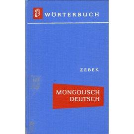 VEB Verlag Enzyklopädie Leipzig Wörterbuch Mongolisch Deutsch, von Schalonow Zebek und Johannes Schubert