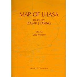 University of Tokyo Map of Lhasa, drawn by Zasak J. Taring, ed. by Chie Nakane