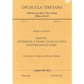 Tibet Institut Rikon Chants attribués à Tsang Yang Gyatso, sixième Dalai Lama, par Philippe van Heurck