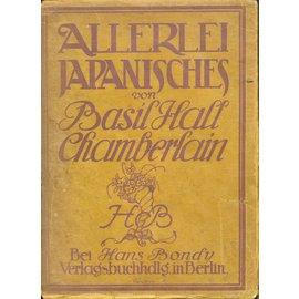 Hans Bondy Berlin Allerlei Japanisches, von Basil Hall Chamberlain