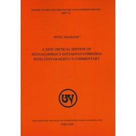 WSTB A New Critical Edition of Jnanagarbha's Satyadvayavibhanga with Santaraksita's Comm.