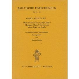 Harrassowitz Gezer Redzia-Wu, von Walther Heissig