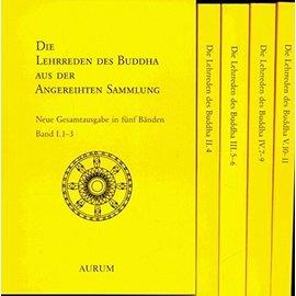 Aurum Verlag Die Lehrreden des Buddha aus der Angereihten Sammlung, 5 Bände