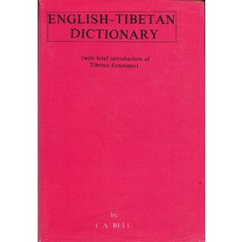 Publications - India, New Delhi English-Tibetan Dictionary, by C.A. Bell