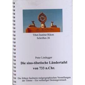 Verlag Tibet Institut Rikon Die sino-tibetische Ländertafel von 733 n.Chr., von Peter Lindegger