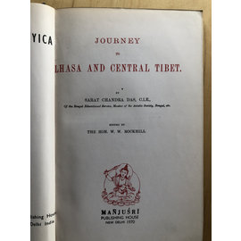Manjusri Publishing House Journey to Lhasa and Central Tibet, by Sarat Chandra Das