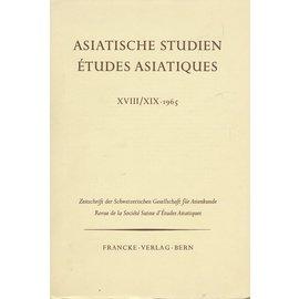 Francke Verlag Bern Asiatische Studien XVIII / XIX 1965