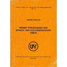 Wiener Studien zur Tibetologie und Buddhismuskunde Wiener Vorlesungen zur Sprach- und Kulturgeschichte Tibets, von Andras Rona-Tas