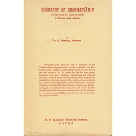 K-P. Jayaswal Research Institute, Patna Biography of Dharmasvamin, by G. Roerich