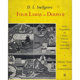Bruno Cassirer Oxford Four Lamas of Dolpo II, by D.L. Snellgrove