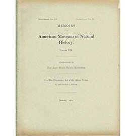 Memoirs of the American Museum of Natural History The Decorative Art of the Amur Tribes, by Berthold Laufer