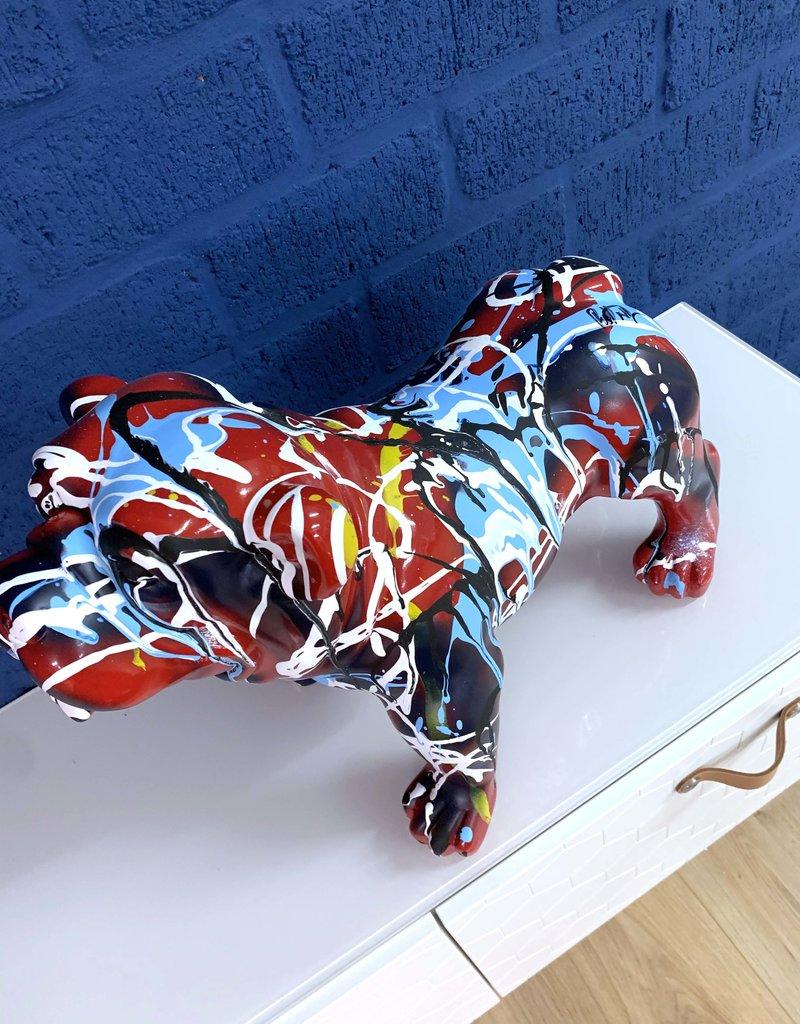 Sculpture - Bulldog - ''RED'' - Rick Triest  - XXL