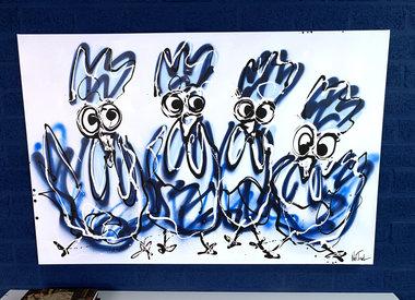 Schilderijen Kippen