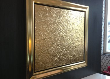 Gold gilded paintings on commission