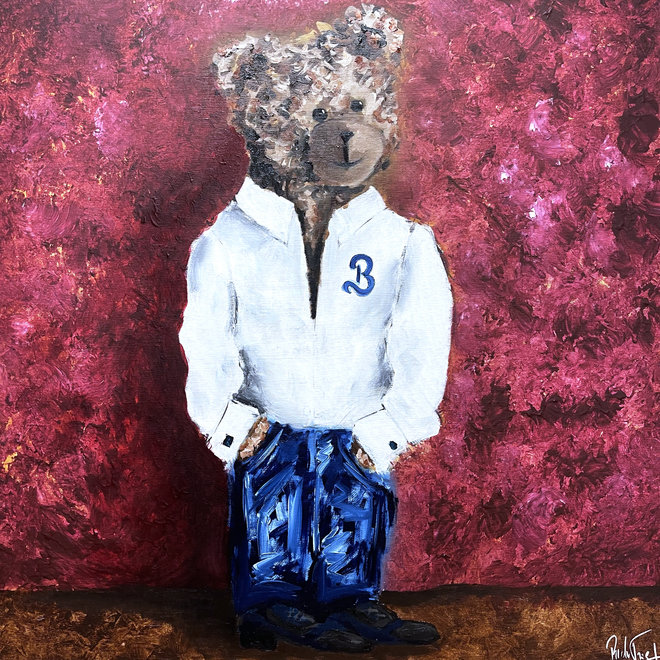 Painting  - ''Sir. Bobby is ready to go out''