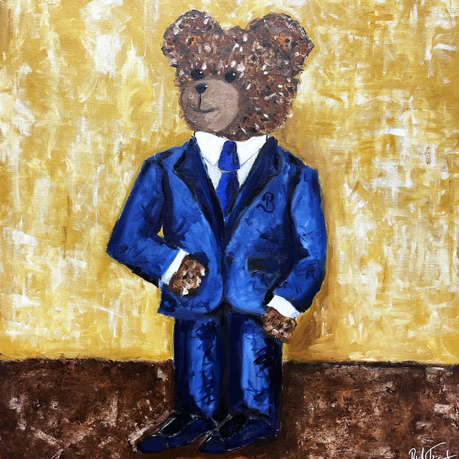 Painting  -  ''Sir. Bobby in his brand new suit''
