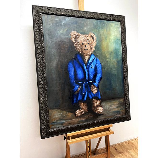 Painting - Rick Triest - 80x100 cm - Sir Bobby the Teddybear - ''Sir Bobby @ home''