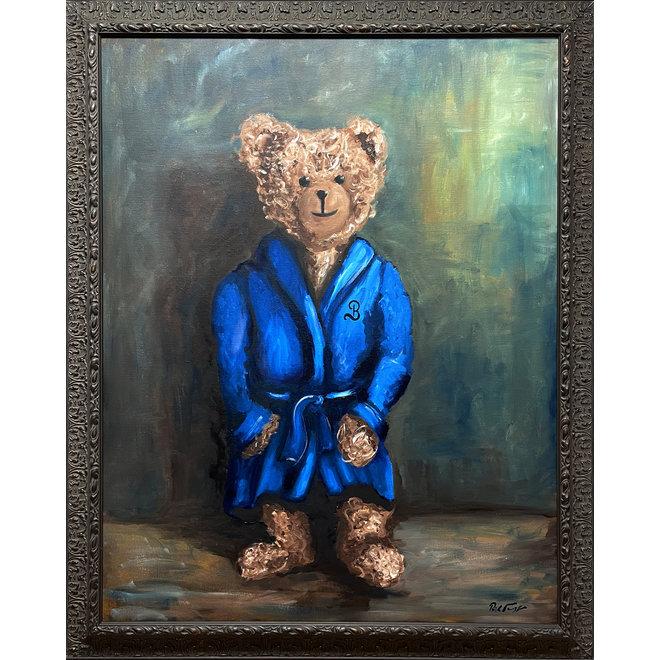 Olieverf schilderij  ''Sir Bobby @ home''
