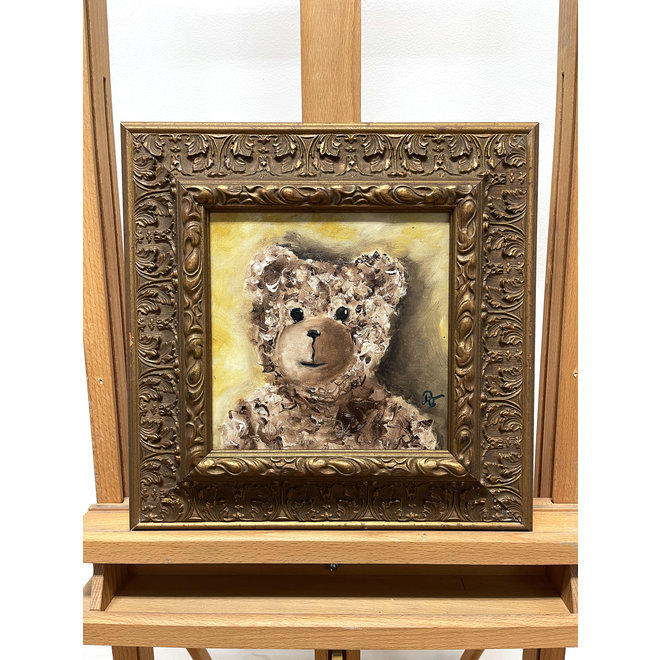 Painting - Rick Triest - 20x20 cm - Sir Bobby the Teddybear - ''Classic Sir. Bobby portret''