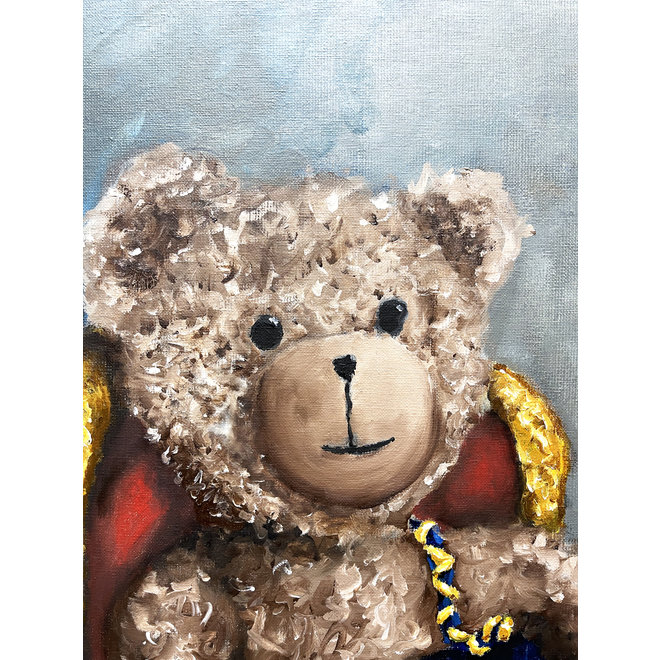 Olieverf schilderij- 80x100 cm -Rick Triest - ''Lady Bobby Loves Chanel''