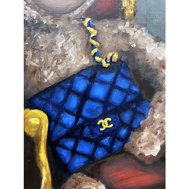 Painting - Rick Triest - 80x100 cm -  ''Lady Bobby Loves Chanel''