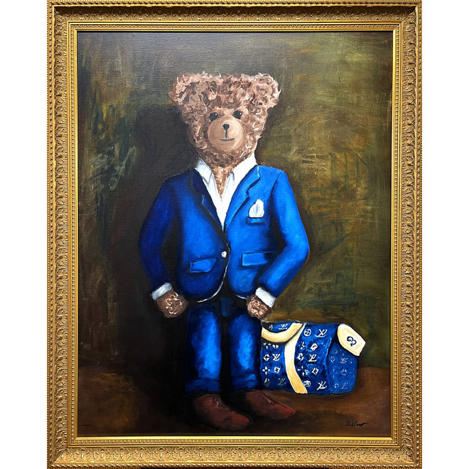 Olieverf schilderij Sir Bobby -  ''in his new matching suit''
